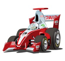 Vector Cartoon Formula 1 Race ...