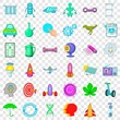 Laboratory icons set. Cartoon style of 36 laboratory vector icons for web for any design