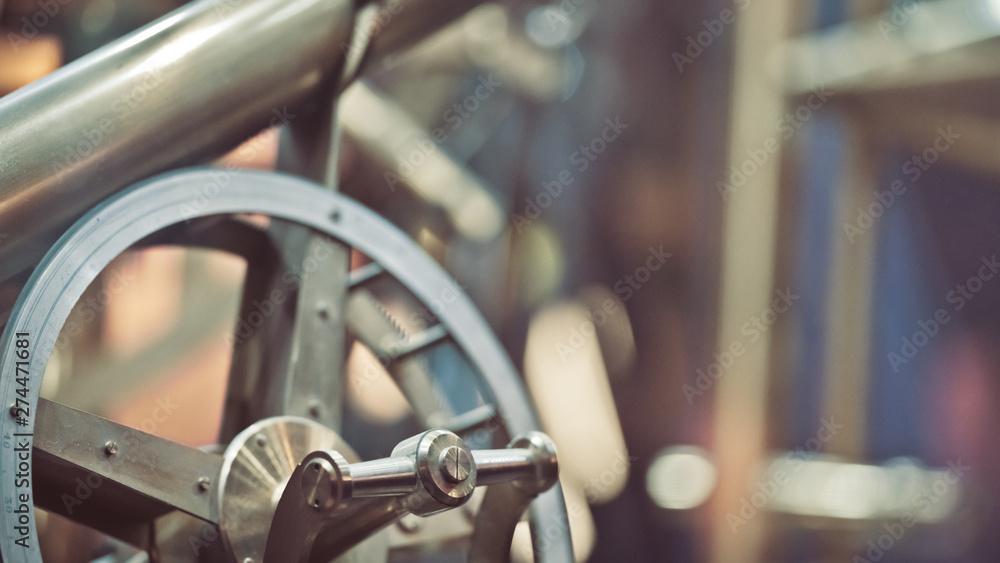 Fototapety, obrazy: Industrial Spindle Marine Engine Machine