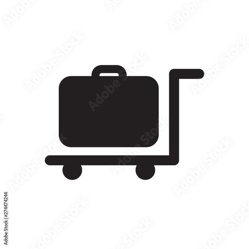 luggage trolley Canvas Print