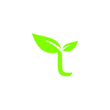 L Seed Plant Letter Icon Logo ...
