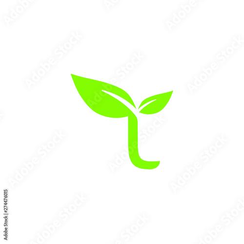 Tablou Canvas L seed plant letter icon logo design concept