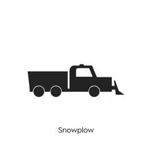 Snowplow Icon Vector Symbol Sign