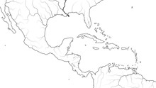 World Map Of CENTRAL AMERICA A...