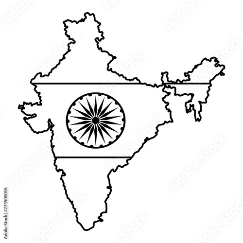 map of india icon cartoon in black and white buy this stock vector and explore similar vectors at adobe stock adobe stock map of india icon cartoon in black and