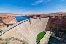 Morning Sunny View Of The Famous Hoover Dam