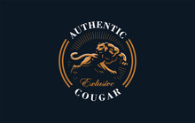 The Image Of A Cougar Or Panth...