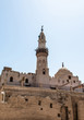 Church and Muslim Mosque Tower religion Symbols in Luxor temple