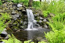 Small Waterfall Among Stones O...