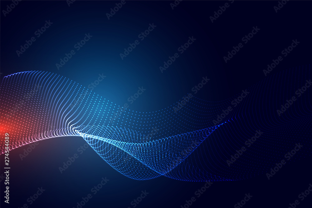Fototapety, obrazy: blue technology particle background design