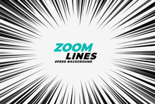 Comic Zoom Lines Motion Background