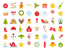 Christmas Icons. Vector. Winte...