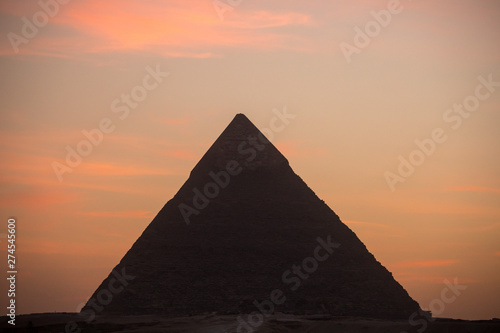 Fototapeta The Great pyramid on sunset
