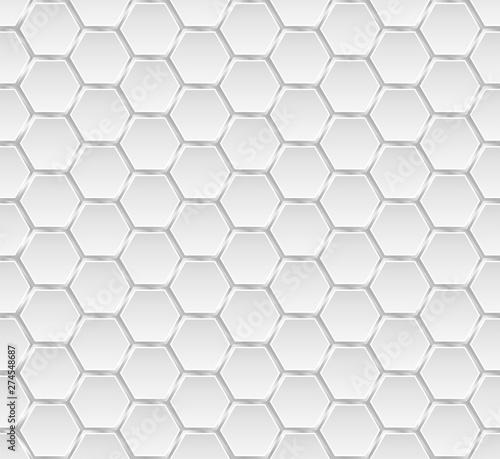 Tapeta Ecru  silver-and-white-metal-honey-hexagonal-cells-seamless-texture-mosaic-or-speaker-fabric-shape-pattern-technology-concept-honeyed-comb-grid-texture-and-geometric-hive-hexagonal-honeycombs-vector