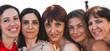 portrait of five coworkers business women
