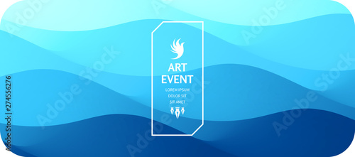 Fototapeta Art event invitation template. Abstract background with dynamic effect. Vector illustration for promotions or presentations. obraz