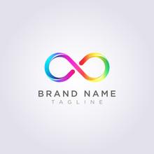 Circle Looping Infinity Vector Illustration Design Clipart Symbol Logo Template