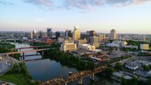Downtown Nashville Tennessee USA Drone Aerial Skyline