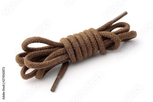 Photographie Cotton brown shoelaces