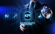KPI Key performance indicator business and industrial analysis concept on screen.