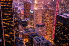 Nightscape At The Highest Point In Downtown Los Angeles