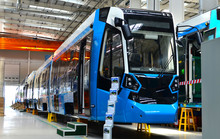 08.06.2019. Minsk, Belarus: Swiss Rail Vehicle Manufacturer Stadler Executes Awarded The Contract To Manufacture And Deliver Tramway «Metelista» For The Cochabamba Metropolitan Train Project, Bolivia