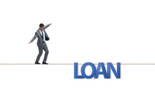 Debt And Loan Concept With Bus...