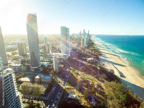 Vászonkép  Aerial Beach Coastline Australia