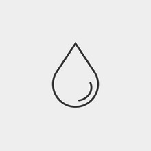 Water Drop Vector Icon Illustration Sign
