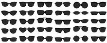 Sunglasses Icons. Black Sungla...