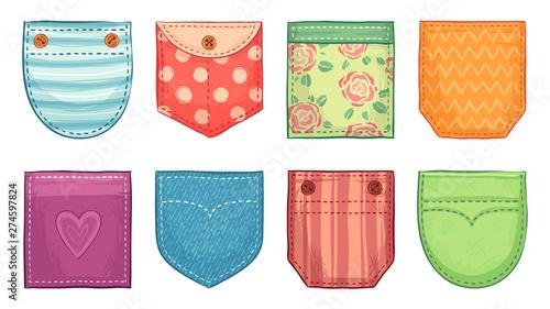 Fotografia Color patch pockets