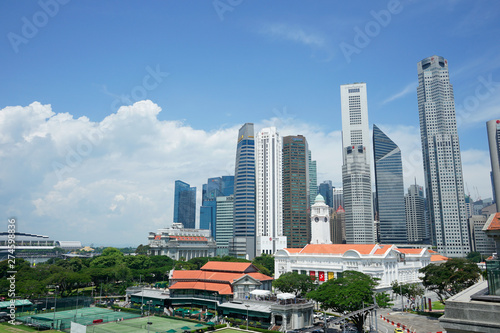 Photo Stands Kuala Lumpur Various modern buildings with futuristic design in Singapore