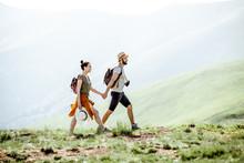 Beautiful Couple Walking With ...