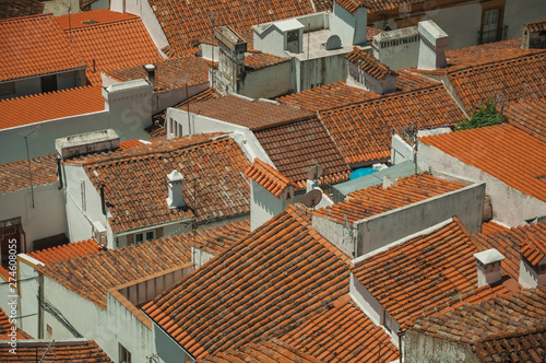 Fotografering  Cityscape with many rooftops