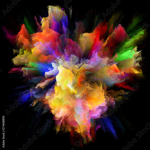 Fototapety, obrazy: Virtual Color Splash Explosion