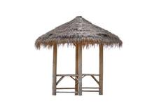 Bamboo Gazebo, Bamboo Pavilion, Canopy Isolated On White Background.