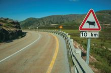 Roadway Passing Through Rocky Landscape