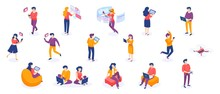 Isometric People And Gadgets. ...