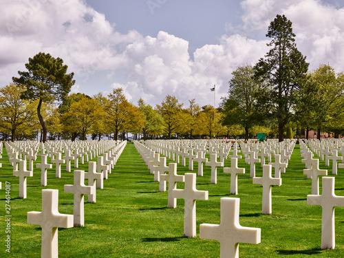 Foto op Canvas Begraafplaats Amerikanischer Soldatenfriedhof Coleville-sur-Mer