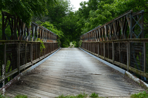 Bailey Bridge Canvas Print