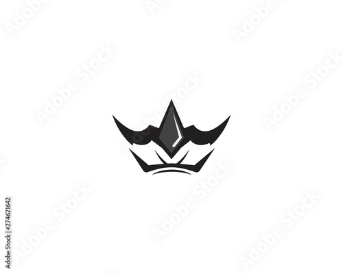 Crown Logo Template vector illustration Wallpaper Mural
