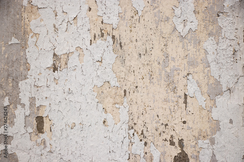 Photo sur Toile Vieux mur texturé sale White painted grunge wall rough texture