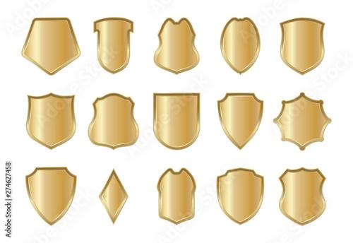 Obraz na plátně Shield design in a realistic style for various websites