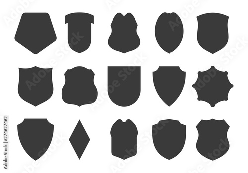 Fototapeta Shield design in a realistic style for various websites