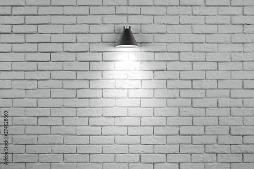 Photo sur Toile Brick wall Blank brick wall with copyspace
