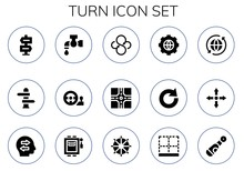Turn Icon Set