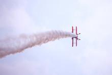Air Spectacular Under Cloudy Sky
