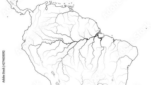 World Map of The AMAZON SELVA REGION in SOUTH AMERICA ...