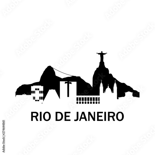 Rio de Janeiro city skyline Wallpaper Mural