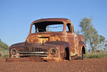 Abandoned Old Car In The Northern Territory Outback Australia